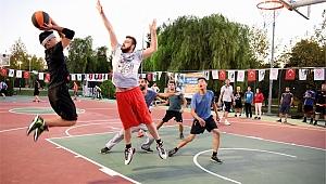 Bornova'da sokak basketbolu heyecanı