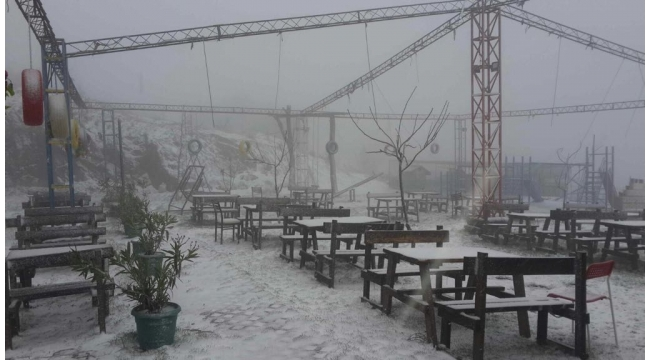 Bir yanı yağmur bir yanı kar