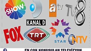 En Çok Konuşulan Televizyon Kanalları ve Diziler Belli Oldu