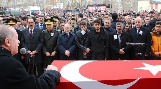 Erdoğan şehit cenazesinde konuştu: Allah bu makamı hepimize nasip etsin
