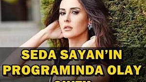 Seda Sayan'ın programında magazin masasında olay çıktı.