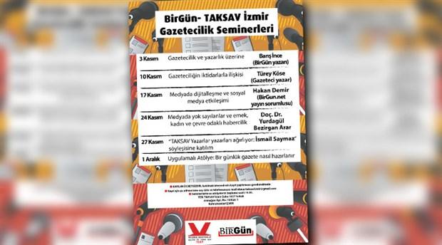 İzmir Gazetecilik Seminerleri 3 Kasım'da Başlıyor