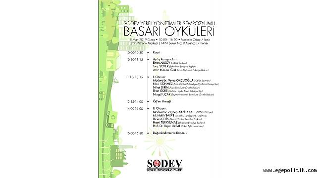 Sodev Yerel Yönetimler Sempozyumu  İzmir'de Toplanıyor!