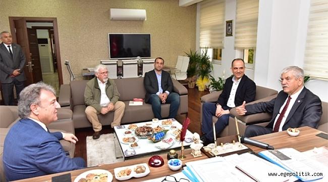 Mahir Polat ve Kani Beko'dan Başkan İduğ'a Ziyaret