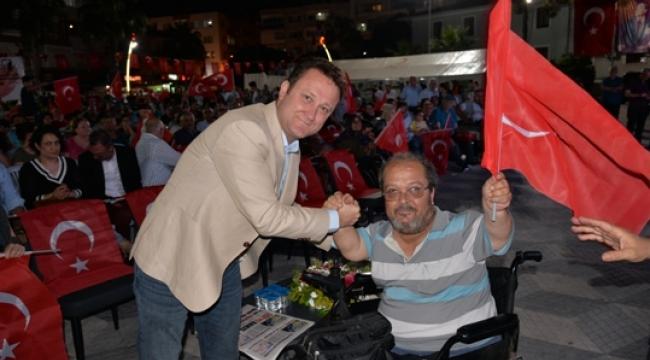"""Başkan Aksoy, """"19 Mayıs, Demokrasi Fişeğini Ateşlemiştir"""""""