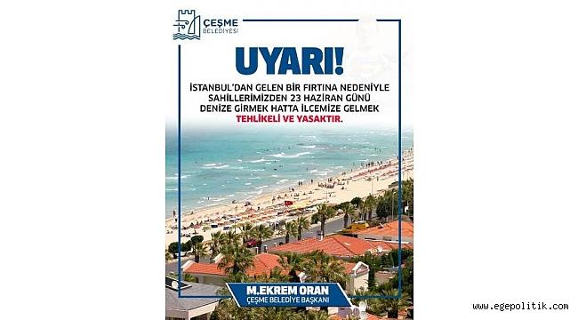 Çeşme Belediyesi'nden İstanbullular'a Afişli 23 Haziran Uyarısı