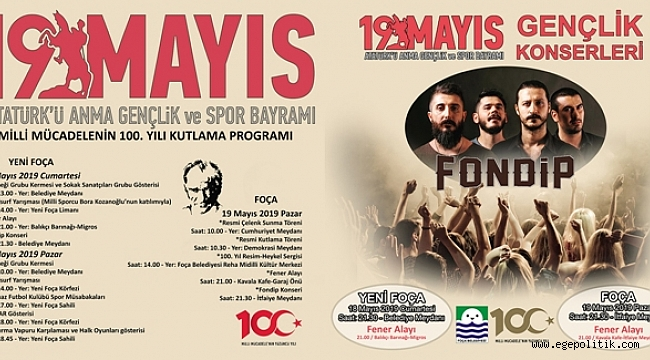 Foça'da 19 Mayıs Kutlamaları