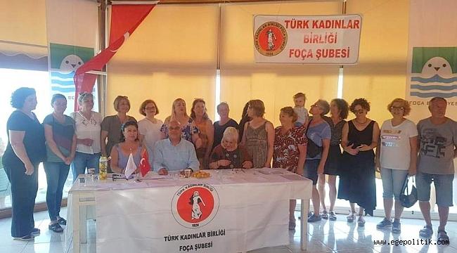 Türk Kadınlar Birliği Foça Şubesi'nde Nur Gündüz Güven Tazeledi