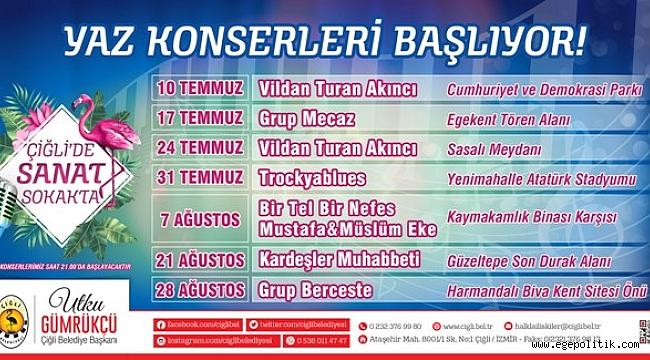 Çiğli'de Yaz Konserleri Başlıyor