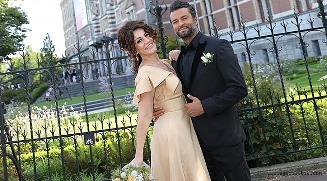 Banu Noyanve Ata Çağlayan Amsterdam'da evlendi