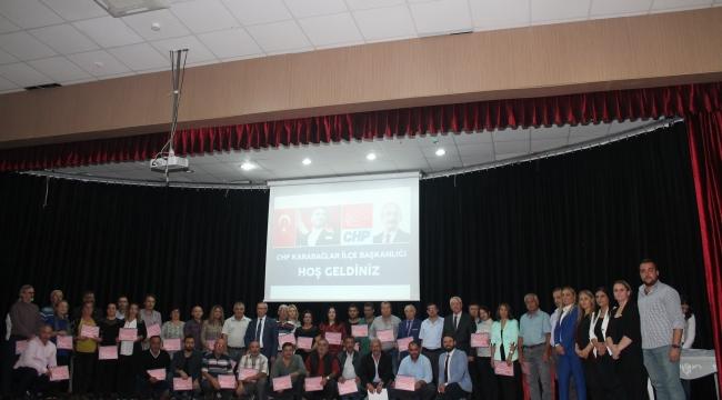 CHP Karabağlar'dan sandık görevlilerine teşekkür belgesi