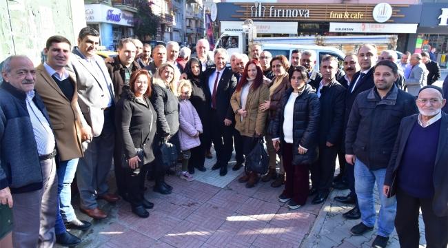 Başkan İduğ kahvehane toplantısında  vatandaşlarla buluştu