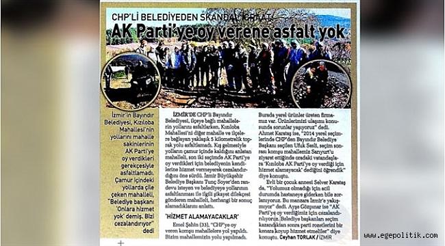 Sabah Gazetesi Belediyeleri Karıştırdı