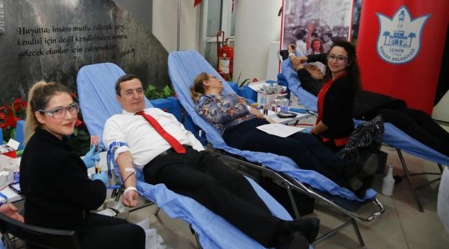 Başkan Batur, kan bağışı kampanyası başlattı