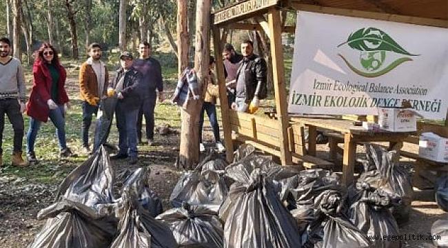Örnekköy Vadisi'nde 1 Ton plastik atık topladılar
