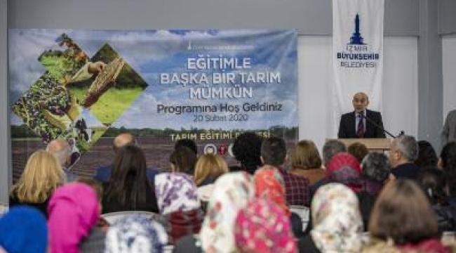 Çiftçi eğitimleri Kemalpaşa Yiğitler Köyü'nde başladı