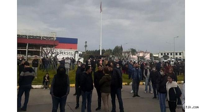 Çiğli Organize'de işçilere sopalı saldırı