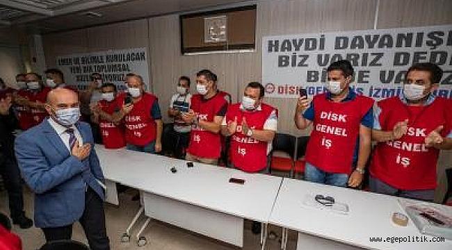 DİSK'ten Başkan Soyer'e destek ziyareti