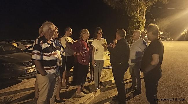 Başkan Oran yangından etkilenen vatandaşları yalnız bırakmadı!