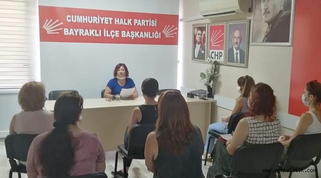 CHP Bayraklı Kadın Kolların'dan İstanbul Sözleşmesi Açıklaması