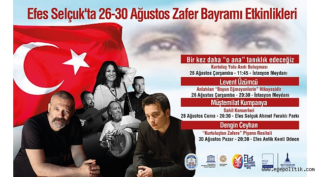 Efes Selçuk Zafer Haftası' nda Sanatla Coşacak