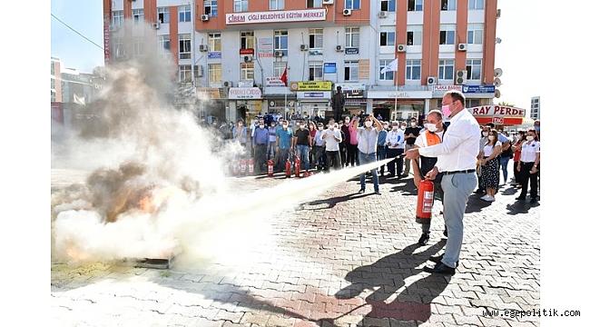 Çiğli Belediyesi' nde yangın tabikatı