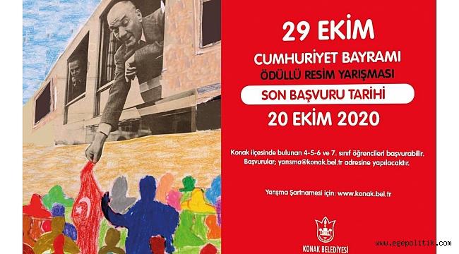 Cunhuriyet' in 97. yaşı Konak' ta resimlere konu olacak