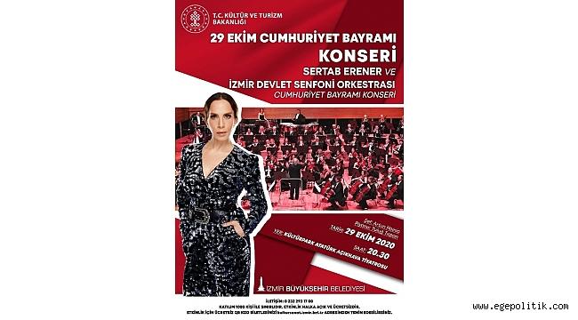 İzmir 29 Ekim coşkusunu Sertap Erener' le yaşayacak