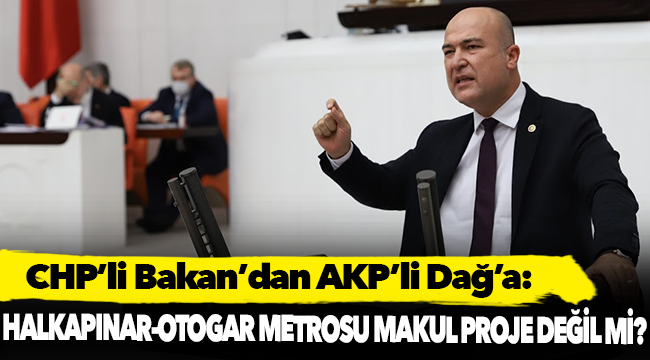 CHP'li Bakan:
