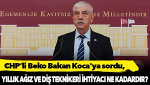 CHP'li Beko Bakan Koca'ya sordu