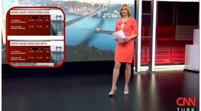 CNN Türk 'zam' yanlışını hemen düzeltti