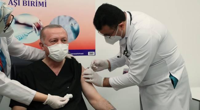 Cumhurbaşkanı Erdoğan Covid-19 aşısı yaptırdı