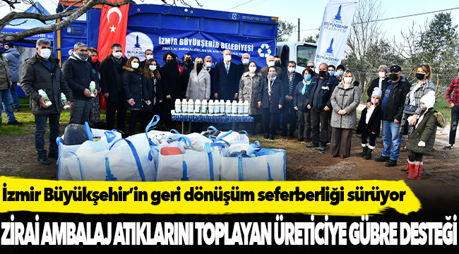 İzmir Büyükşehir'in geri dönüşüm seferberliği sürüyor