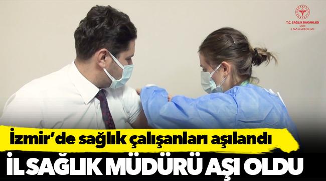 İzmir'de CoronaVac Aşısı Sağlık Çalışanlarına Uygulanmaya Başladı