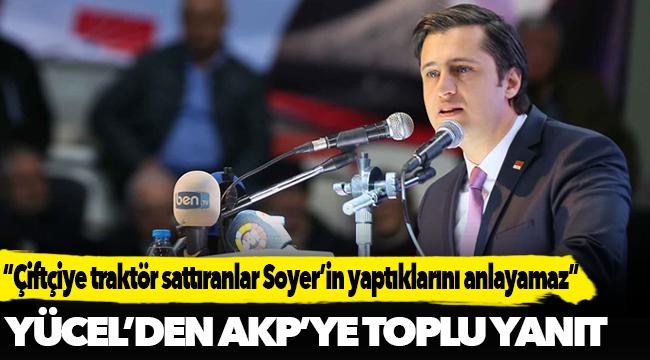 YÜCEL'DEN AKP'YE TOPLU YANIT