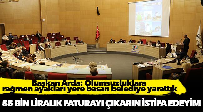 Başkan Arda: Olumsuzluklara rağmen ayakları yere basan belediye yarattık