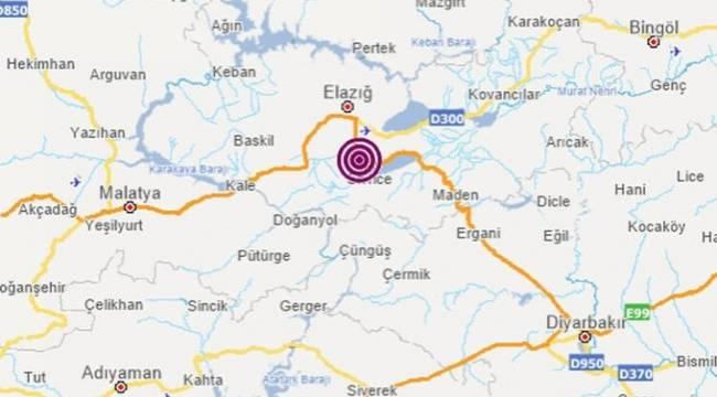 Elazığ'daki 3.6 büyüklüğünde deprem!