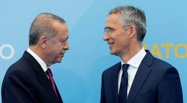 Erdoğan NATO Genel Sekreteri Stoltenberg'le görüştü