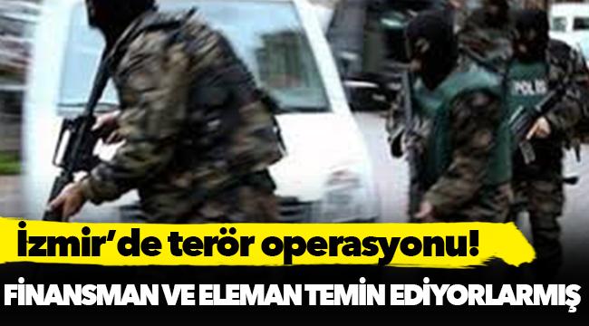 İzmir'de terör operasyonu: 2 gözaltı