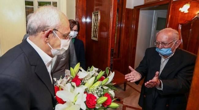 Kemal Kılıçdaroğlu, Hüsamettin Cindoruk'u ziyaret etti