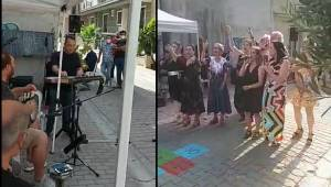 Karşıyaka Sanat Derneği TSM Korosu sokakta da harika!