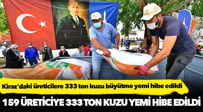 Kiraz'daki üreticilere 333 ton kuzu büyütme yemi hibe edildi