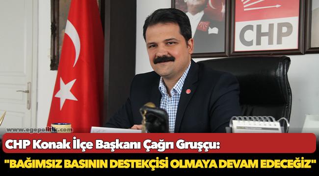 CHP Konak İlçe Başkanı Çağrı Gruşçu: