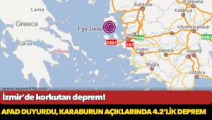 İzmir açıklarında korkutan deprem