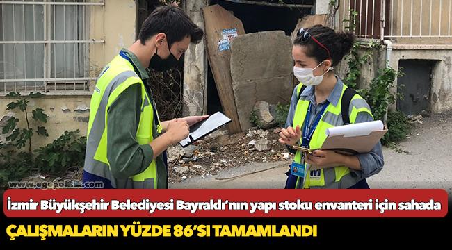 İzmir Büyükşehir Belediyesi Bayraklı'nın yapı stoku envanteri için sahada