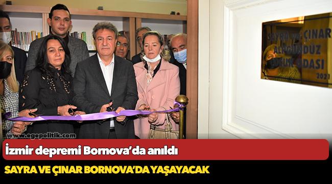 İzmir depremi Bornova'da anıldı