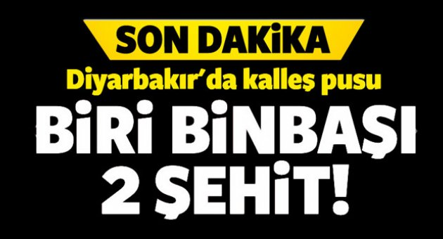 Diyarbakır'da alçak pusu... Biri binbaşı iki şehidimiz var