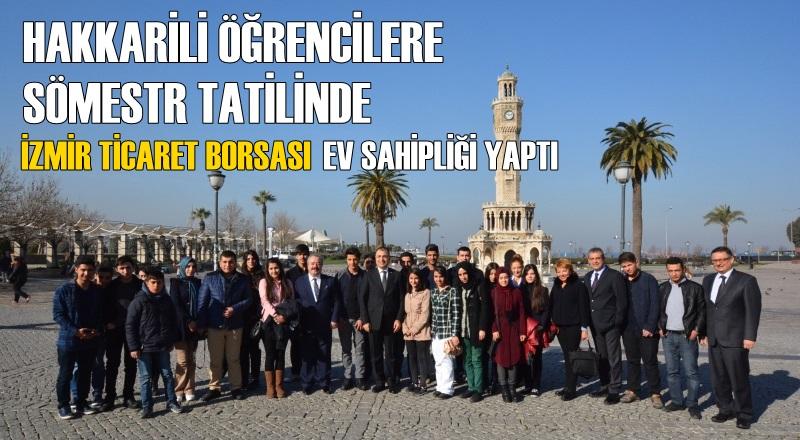 Hakkarili öğrencilerin sömestr tatiline İzmir Ticaret Borsası ev sahipliği yaptı