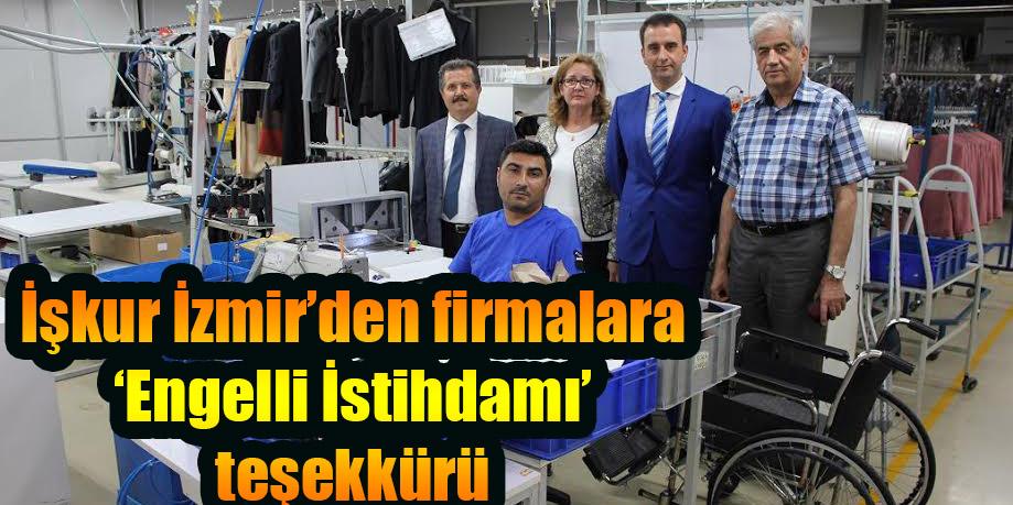 İşkur İzmir'den firmalara 'Engelli İstihdamı' teşekkürü
