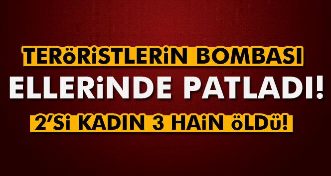 PKK'lıların Aracın'da Bomba Patladı 3 PKK'lı Ölü Ele Geçirildi.